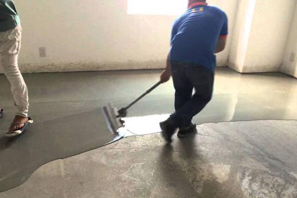 lắp đặt sàn spc trên nền bê tông